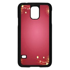 Red Background With A Pattern Samsung Galaxy S5 Case (black)