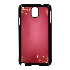 Red Background With A Pattern Samsung Galaxy Note 3 Neo Hardshell Case (black)