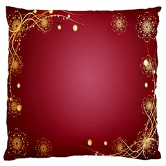 Red Background With A Pattern Large Flano Cushion Case (two Sides)