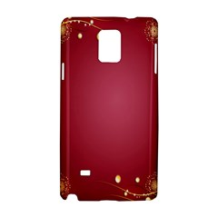 Red Background With A Pattern Samsung Galaxy Note 4 Hardshell Case