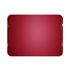 Red Background With A Pattern Double Sided Flano Blanket (mini)