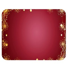Red Background With A Pattern Double Sided Flano Blanket (medium)