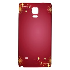 Red Background With A Pattern Galaxy Note 4 Back Case