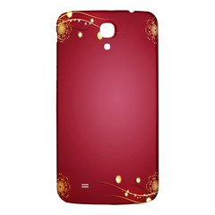 Red Background With A Pattern Samsung Galaxy Mega I9200 Hardshell Back Case