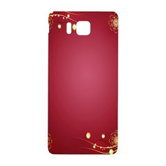 Red Background With A Pattern Samsung Galaxy Alpha Hardshell Back Case