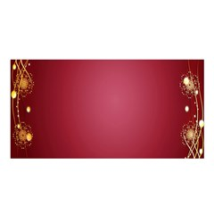 Red Background With A Pattern Satin Shawl