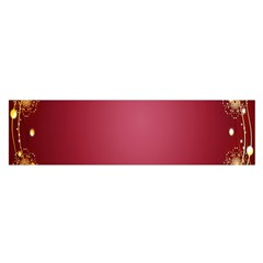 Red Background With A Pattern Satin Scarf (oblong)
