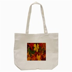 Colorful Autumn Leaves Leaf Background Tote Bag (cream)