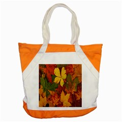 Colorful Autumn Leaves Leaf Background Accent Tote Bag