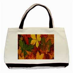 Colorful Autumn Leaves Leaf Background Basic Tote Bag (two Sides)