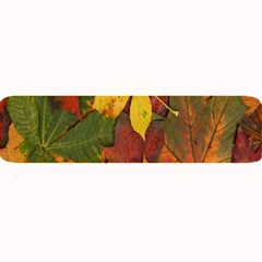 Colorful Autumn Leaves Leaf Background Large Bar Mats