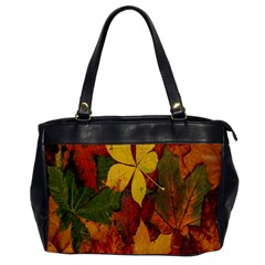 Colorful Autumn Leaves Leaf Background Office Handbags