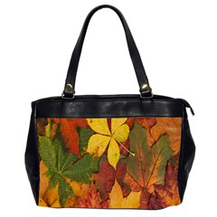 Colorful Autumn Leaves Leaf Background Office Handbags (2 Sides)