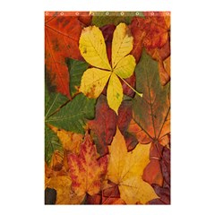 Colorful Autumn Leaves Leaf Background Shower Curtain 48  X 72  (small)