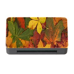 Colorful Autumn Leaves Leaf Background Memory Card Reader With Cf