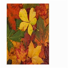 Colorful Autumn Leaves Leaf Background Small Garden Flag (two Sides)