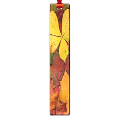Colorful Autumn Leaves Leaf Background Large Book Marks