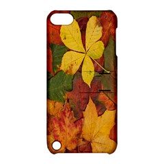 Colorful Autumn Leaves Leaf Background Apple Ipod Touch 5 Hardshell Case With Stand