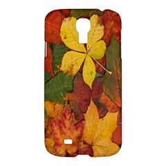 Colorful Autumn Leaves Leaf Background Samsung Galaxy S4 I9500/i9505 Hardshell Case