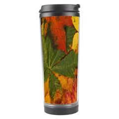 Colorful Autumn Leaves Leaf Background Travel Tumbler