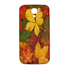 Colorful Autumn Leaves Leaf Background Samsung Galaxy S4 I9500/I9505  Hardshell Back Case