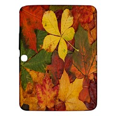 Colorful Autumn Leaves Leaf Background Samsung Galaxy Tab 3 (10 1 ) P5200 Hardshell Case
