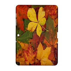 Colorful Autumn Leaves Leaf Background Samsung Galaxy Tab 2 (10 1 ) P5100 Hardshell Case