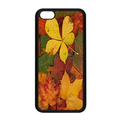 Colorful Autumn Leaves Leaf Background Apple Iphone 5c Seamless Case (black)