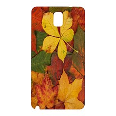 Colorful Autumn Leaves Leaf Background Samsung Galaxy Note 3 N9005 Hardshell Back Case