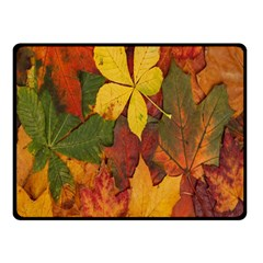 Colorful Autumn Leaves Leaf Background Double Sided Fleece Blanket (small)