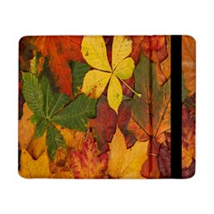 Colorful Autumn Leaves Leaf Background Samsung Galaxy Tab Pro 8 4  Flip Case