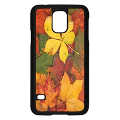 Colorful Autumn Leaves Leaf Background Samsung Galaxy S5 Case (black)