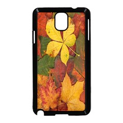 Colorful Autumn Leaves Leaf Background Samsung Galaxy Note 3 Neo Hardshell Case (black)