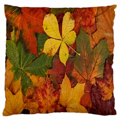 Colorful Autumn Leaves Leaf Background Standard Flano Cushion Case (two Sides)