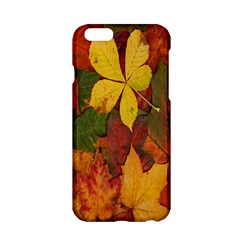 Colorful Autumn Leaves Leaf Background Apple Iphone 6/6s Hardshell Case