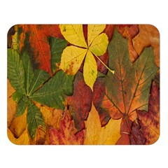 Colorful Autumn Leaves Leaf Background Double Sided Flano Blanket (large)