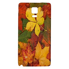 Colorful Autumn Leaves Leaf Background Galaxy Note 4 Back Case