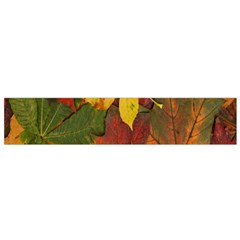 Colorful Autumn Leaves Leaf Background Flano Scarf (small)