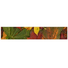 Colorful Autumn Leaves Leaf Background Flano Scarf (large)