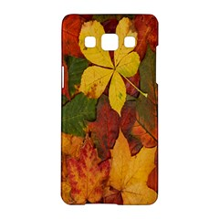 Colorful Autumn Leaves Leaf Background Samsung Galaxy A5 Hardshell Case