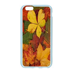 Colorful Autumn Leaves Leaf Background Apple Seamless iPhone 6/6S Case (Color)