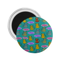 Meow Cat Pattern 2 25  Magnets