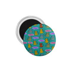 Meow Cat Pattern 1 75  Magnets