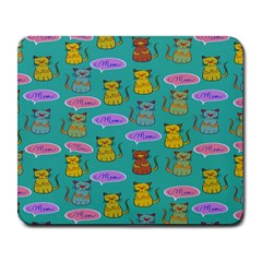 Meow Cat Pattern Large Mousepads
