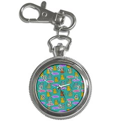 Meow Cat Pattern Key Chain Watches