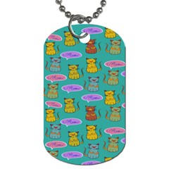Meow Cat Pattern Dog Tag (Two Sides)