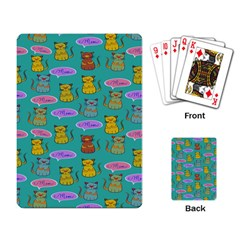 Meow Cat Pattern Playing Card