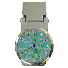 Meow Cat Pattern Money Clip Watches