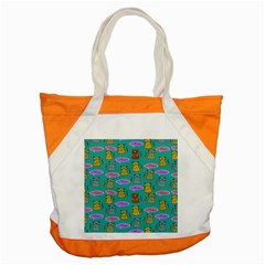 Meow Cat Pattern Accent Tote Bag