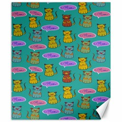Meow Cat Pattern Canvas 8  X 10